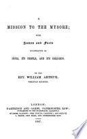A Mission To The Mysore Etc  Book