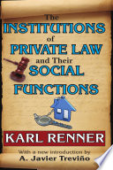 The Institutions Of Private Law