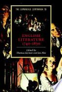 The Cambridge Companion to English Literature, 1740-1830