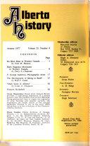 Alberta Historical Review