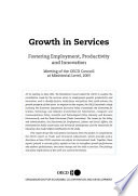 Growth in Services Fostering Employment  Productivity and Innovation