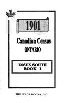 1901 Canadian Census Ontario