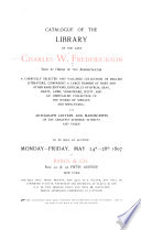 Catalogue of the Library of the Late Charles W  Frederickson