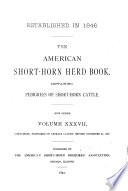 The American Short horn Herd Book     Book