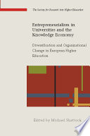Ebook Entrepreneurialism In Universities And The Knowledge Economy Diversification And Organizational Change In European Higher Education