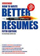 How to Write Better Résumés
