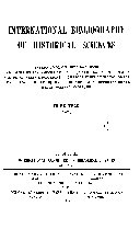 International Bibliography Of Historical Sciences