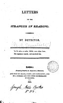 Letters to the Stranger in Reading