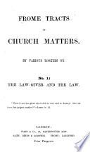 Frome Tracts On Church Matters By Various Lookers On