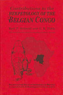 Contributions to the Herpetology of the Belgian Congo
