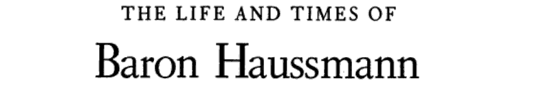 The Life and Times of Baron Haussmann banner backdrop