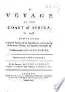 A Voyage to the Coast of Africa  in 1758 Book