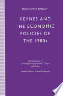 Keynes And The Economic Policies Of The 1980 S