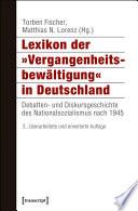 """Lexikon der """"Vergangenheitsbewältigung"""" in Deutschland"""