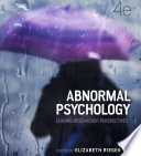 Abnormal Psychology: Leading researcher perspectives, 4th Edition