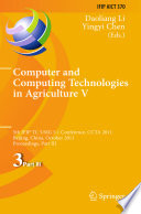 Computer And Computing Technologies In Agriculture Book PDF