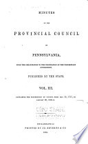 Colonial Records Of Pennsylvania