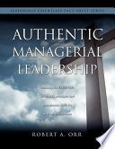Authentic Managerial Leadership Book