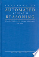 Handbook Of Automated Reasoning Book PDF