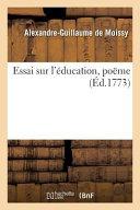 Essai Sur L'Education, Poeme