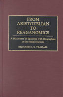 From Aristotelian to Reaganomics: A Dictionary of Eponyms with ...