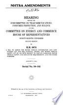 Nhtsa Amendments