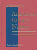 Dictionary of American Family Names  O Z