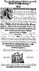 Newe Beschreibung dess Königreichs Polen, und Gross Hertzogthumbs Lithauen, etc