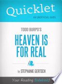 Quicklet on Heaven Is For Real by Todd Burpo  CliffNotes like Book Summary