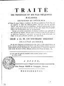 TRAITÉ DES PRINCIPALES ET DES PLUS FRÉQUENTES MALADIES EXTERNES ET INTERNES