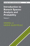 Introduction to Banach Spaces: Analysis and Probability: