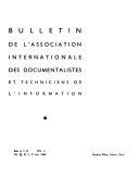 Bulletin De L Association Internationale Des Documentalistes Et Techniciens De L Information