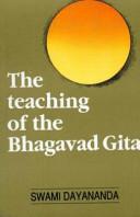 Teaching Of The Bhagavadgita
