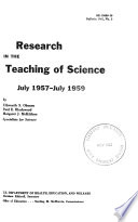 Research In The Teaching Of Science