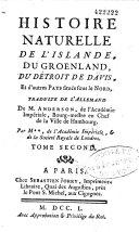 Histoire naturelle de l'Islande, du Groënland, du détroit de Davis et d'autres pays situés dans le Nord ebook
