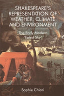 Shakespeare's Representation of Weather, Climate and Environment Pdf/ePub eBook