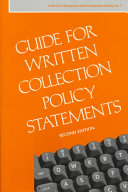 Guide For Written Collection Policy Statements