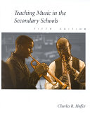 Teaching Music In The Secondary Schools Book PDF