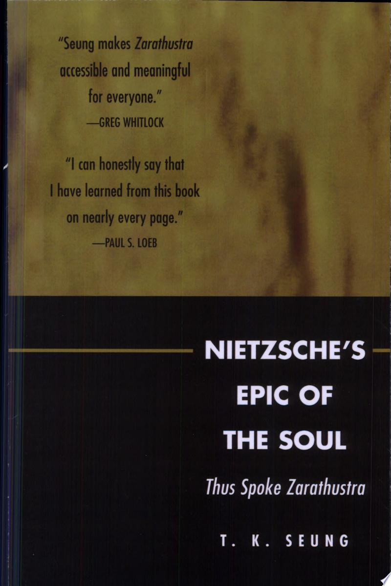 Nietzsche's Epic of the Soul poster