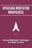 Vipassana Meditation Mindfulness Book PDF
