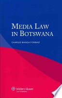 Media Law in Botswana