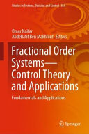 Fractional Order Systems   Control Theory and Applications