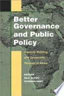Better Governance and Public Policy