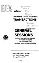 Transactions - National Safety Congress