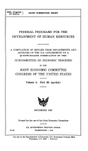 Federal Programs For The Development Of Human Resources