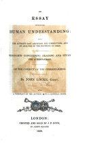 An essay concerning human understanding ... The twentieth edition, etc