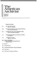 The American Archivist  Volume 36 Number 4 October 1973