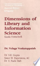 Dimensions Of Library And Information Science Book PDF