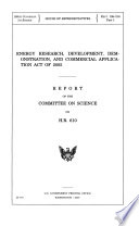 Energy Research  Development  Demonstration  and Commercial Application Act of 2005