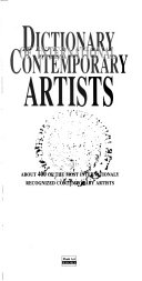 Dictionary of International Contemporary Artists